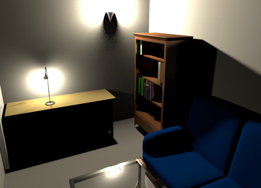 Wandlampe Im Wohnzimmer   Beispiel Einer Beleuchtung Mit Einer Wandlampe